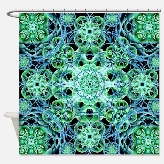 Ethereal Growth Mandala Shower Curtain