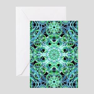 Ethereal Growth Mandala Greeting Cards