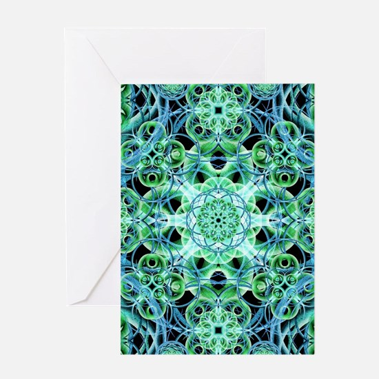 Ethereal Growth Mandala Greeting Cards