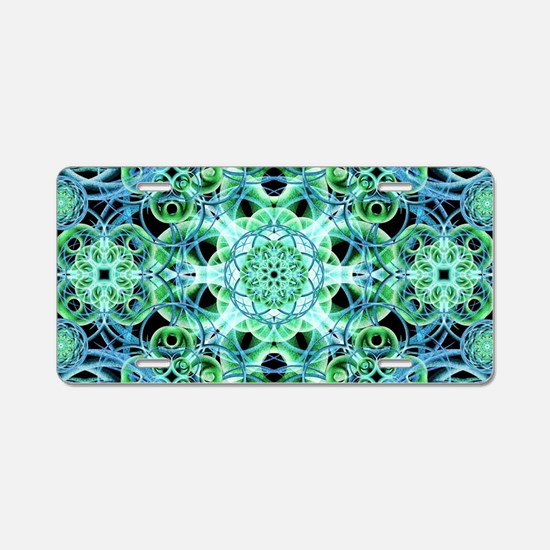 Ethereal Growth Mandala Aluminum License Plate