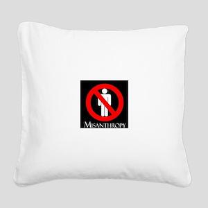 MISANTHROPY Square Canvas Pillow