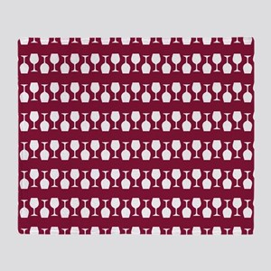 Wine Glass Stripes Pattern Throw Blanket