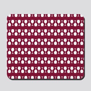 Wine Glass Stripes Pattern Mousepad