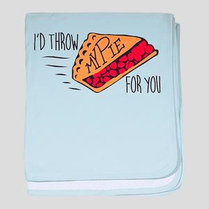 Throw Pie baby blanket
