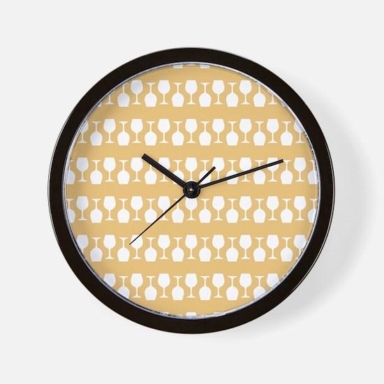 Wine Glass Stripes Pattern Wall Clock