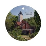 Presque Isle Lighthouse Erie Round Ornament