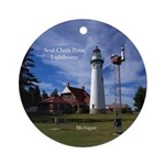 Seul Choix Point Lighthouse Round Ornament