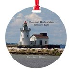 Cleveland Harbor Main Entrance Round Ornament