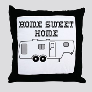 Home Sweet Home Fifth Wheel Throw Pillow
