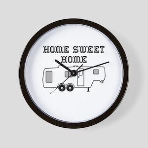 Home Sweet Home Fifth Wheel Wall Clock