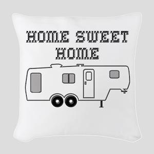 Home Sweet Home Fifth Wheel Woven Throw Pillow