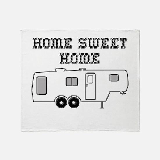 Home Sweet Home Fifth Wheel Throw Blanket