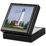 Crisp Point Lighthouse Keepsake Box