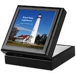 Wind Point Lighthouse Keepsake Box