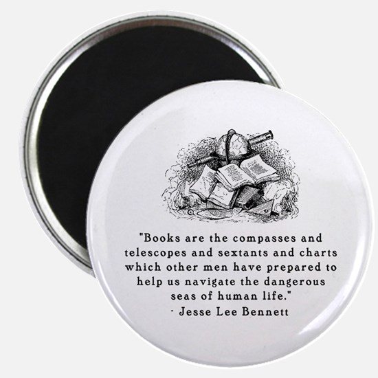 """Books are the compasses<br> 2.25"""" Magnet (10 pack)"""
