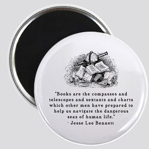 Books are the compasses<br> Magnet