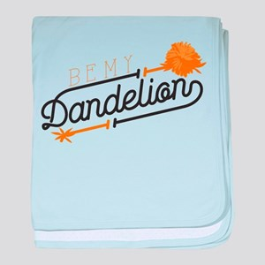 Be My Dandelion baby blanket