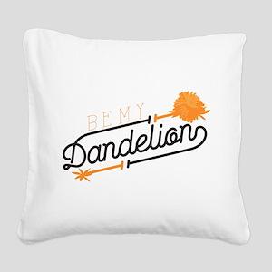 Be My Dandelion Square Canvas Pillow