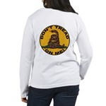 Don't Tread on Me-Circle Women's Long Sleeve T-Shi