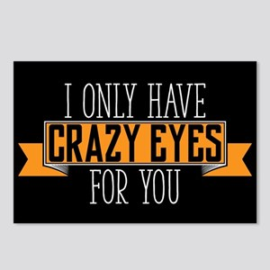 Crazy Eyes Postcards (Package of 8)