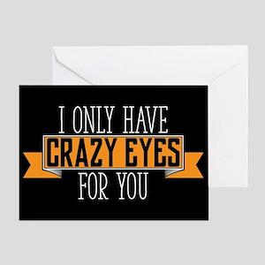 Crazy Eyes Greeting Card