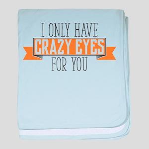 Crazy Eyes baby blanket