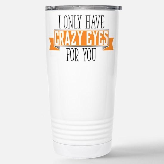 Crazy Eyes Stainless Steel Travel Mug