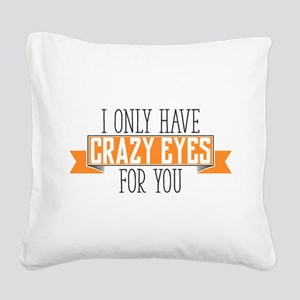Crazy Eyes Square Canvas Pillow