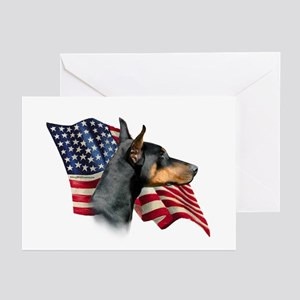 Doberman Fla Greeting Cards