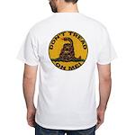 Don't Tread on Me-Circle White T-Shirt