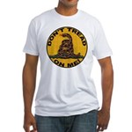 Don't Tread on Me-Circle Fitted T-Shirt