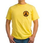Don't Tread on Me-Circle Yellow T-Shirt