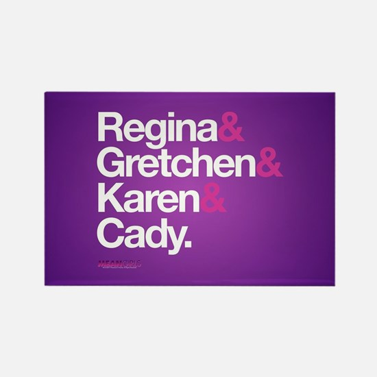 Mean Girls Character Names Rectangle Magnet