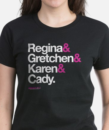 Mean Girls Character Names Women's Dark T-Shirt