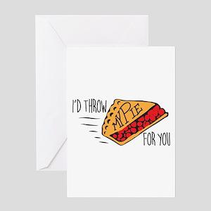 Throw Pie Greeting Cards