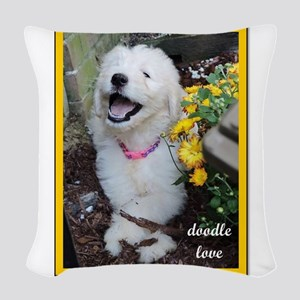 Doodle Love - Doodle Puppy Picture with Flowers Wo