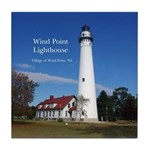 Wind Point Lighthouse Tile Coaster