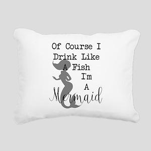 Drink like a fish Rectangular Canvas Pillow
