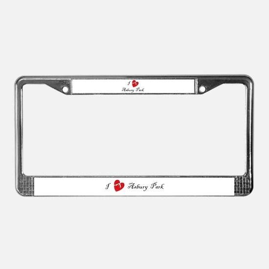 I Love Asbury Park License Plate Frame