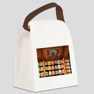Wooden painted clogs, Holland 2 Canvas Lunch Bag