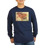Flat S Carolina Long Sleeve Dark T-Shirt