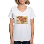 Flat S Carolina Women's V-Neck T-Shirt