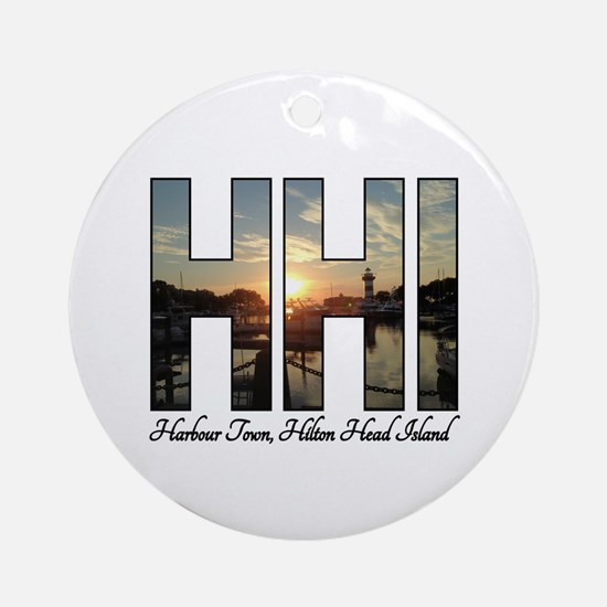 Harbour Town Hilton Head Round Ornament