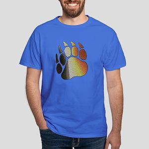 BEAR PRIDE PAW/TEXTURES 2 Dark T-Shirt
