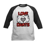 Love Darts Kids Baseball Jersey