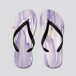 Abstract Orchid Painting Flip Flops