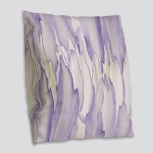 Abstract Orchid Painting Burlap Throw Pillow