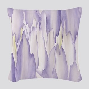 Abstract Orchid Painting Woven Throw Pillow
