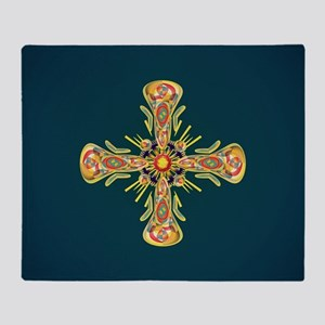 Jewelry cross Throw Blanket