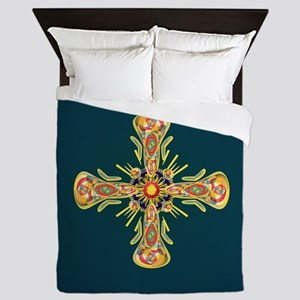 Jewelry cross Queen Duvet